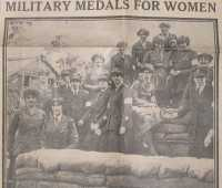 Photograph of women, including Elsie Courtis, who were awarded the Military Medal, 1918.