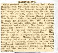 Report of Llanfairpwll WI's first Annual Meeting. North Wales Chronicle 22nd Sept 1916rn