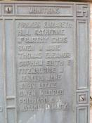 Name of Mary Fitzmaurice on Swansea Cenotaph