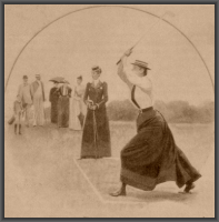 Maud Starkie Bence playing golf c 1890