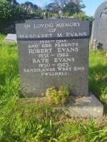Grave of Maggie Evans VAD, Pwllheli cemetery. Thanks to Wayne Bywater