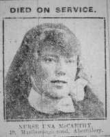 Photograph of Nurse Una McCarthy 19 Marlborough Road Abertillery.