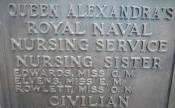 Name of Caroline Edwards, QARNNS, on Chatham Naval Memorial..