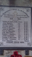 Jean Roberts's name on the War Memorial in St David's Church, Blaenau Ffestiniog. It was obviously added after WW2, hence the mistake WAAF for QMAAC.rn. rn