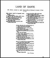 Poem 'Land of Dante', reflecting on the Austrian invasion of Italy. Welsh Outlook Vol 2 no 9 September 1915.