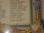 Name of Mary Ann Eliza Young, VAD.  on the Roll of Honour, City Hall, Cardiff.