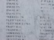 Name of Emma Fletcher, VAD, on Ammanford War Memorial